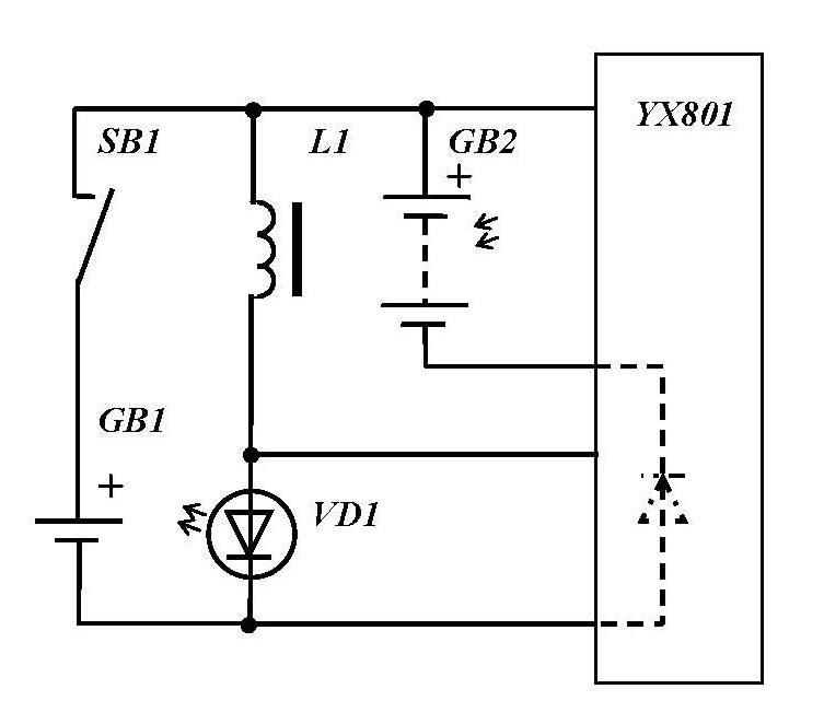 Принципиальная схема фонарика
