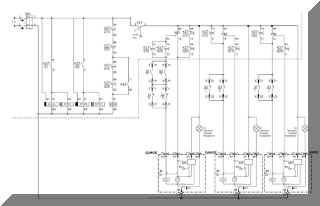 """Схема автоматики АВР принципиальная для варианта """"выключатель-разъединитель""""."""