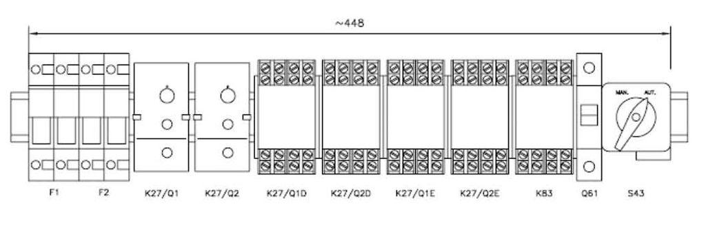 Примерная монтажная схема АВР