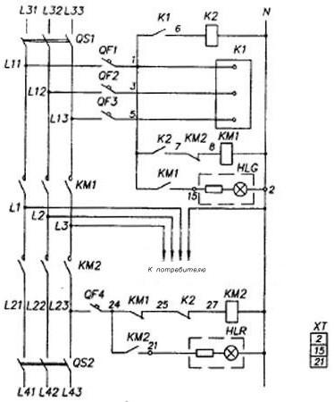 Схема электрическая щитов ЩАП