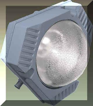 Светильник РПП-01-125 с лампой ДРЛ-125.