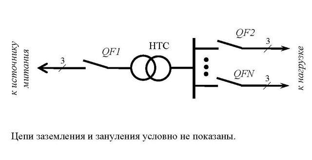 Трансформатор НТС. Схема